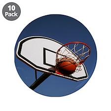 "Basketball 3.5"" Button (10 pack)"