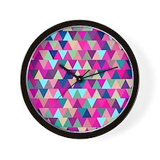 Triangle Mix #1 Wall Clock