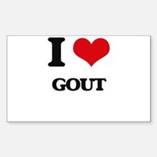 I Love Gout Decal