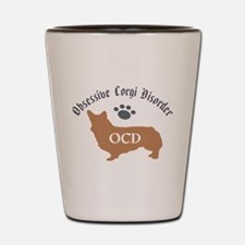 Obsessive Corgi Disorder Shot Glass