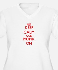 Keep Calm and Monk ON Plus Size T-Shirt