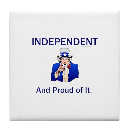 Independent Slogan Tile Coaster