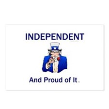Independent Slogan Postcards (Package of 8)