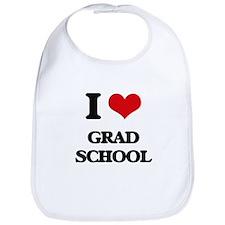 I Love Grad School Bib