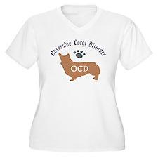 Obsessive Corgi Disorder Plus Size T-Shirt