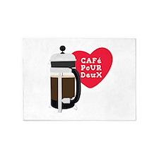 Cafe Pour Deux 5'x7'Area Rug