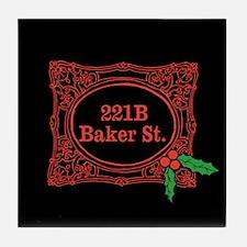 Holmes for Christmas Tile Coaster