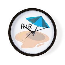 R&R Umbrella Wall Clock