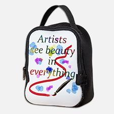 Artists See Beauty Neoprene Lunch Bag