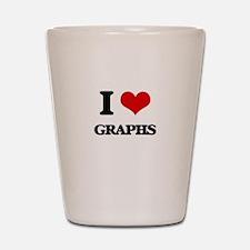 I Love Graphs Shot Glass
