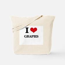 I Love Graphs Tote Bag
