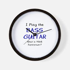 play bass guitar Wall Clock