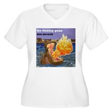 The Flaming Yawn cover by Rural Plus Size T-Shirt