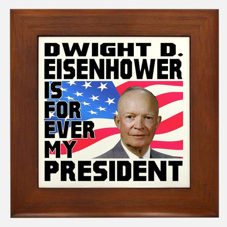 Eisenhower 4ever Framed Tile
