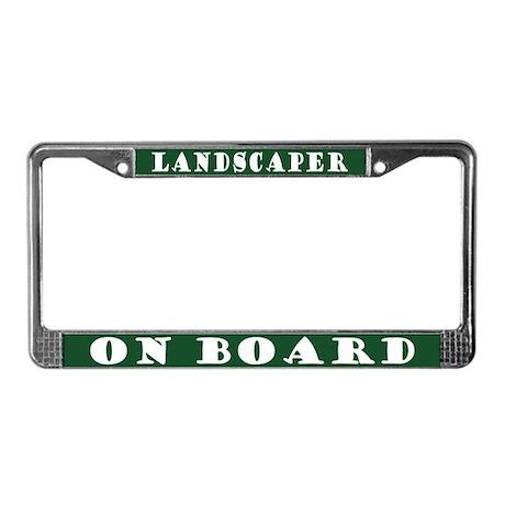 Landscaper License Plate Frame