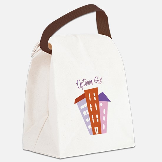Uptown Girl Canvas Lunch Bag