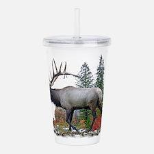Bull elk Acrylic Double-wall Tumbler