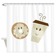 Coffee and Donut Shower Curtain