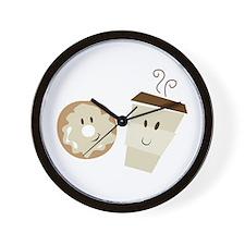 Coffee and Donut Wall Clock