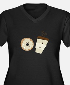 Coffee and Donut Plus Size T-Shirt