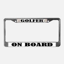 Golfer On Board License Plate Frame