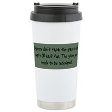 Unique Glass half empty Travel Mug