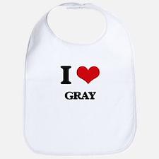 I Love Gray Bib