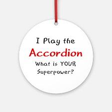 play accordion Ornament (Round)