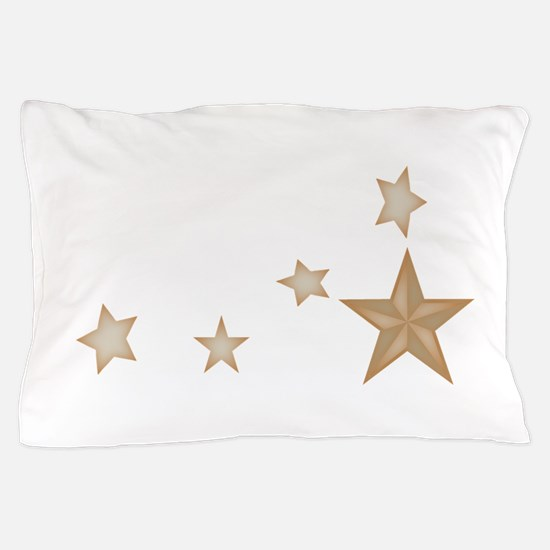 Silver stars.gif Pillow Case