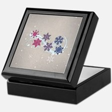 Bisexual Snow Flakes Keepsake Box