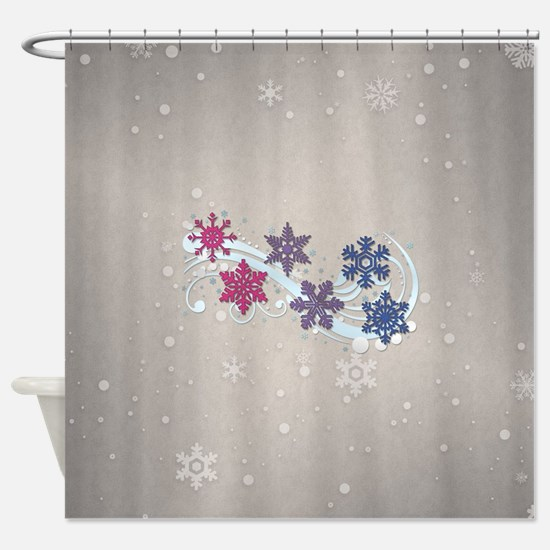 Bisexual Snow Flakes Shower Curtain
