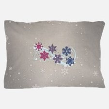 Bisexual Snow Flakes Pillow Case