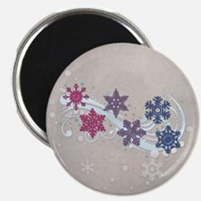 Bisexual Snow Flakes Magnet
