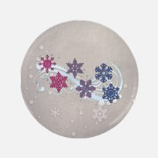 """Bisexual Snow Flakes 3.5"""" Button (100 pack)"""