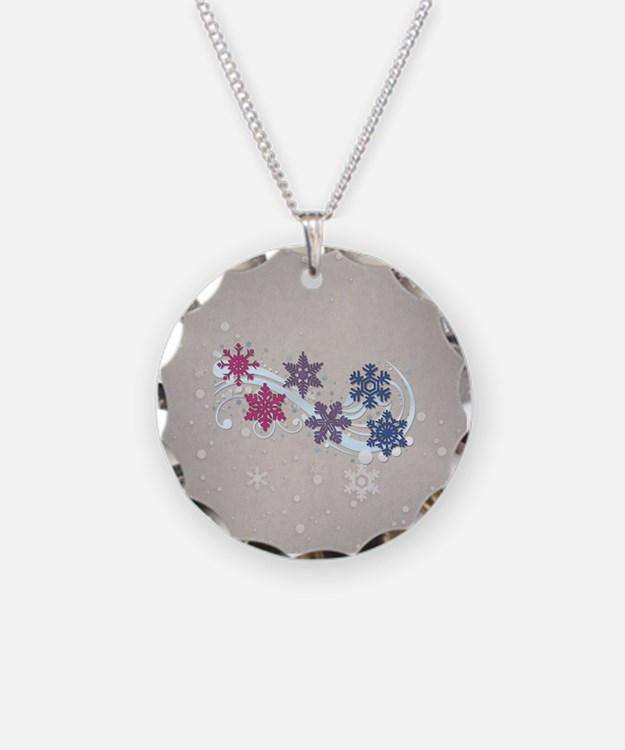 Bisexual Snow Flakes Necklace