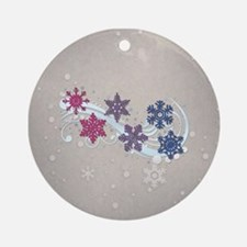 Bisexual Snow Flakes Ornament (Round)