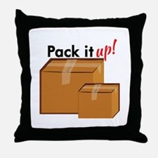 Pack It Up Throw Pillow
