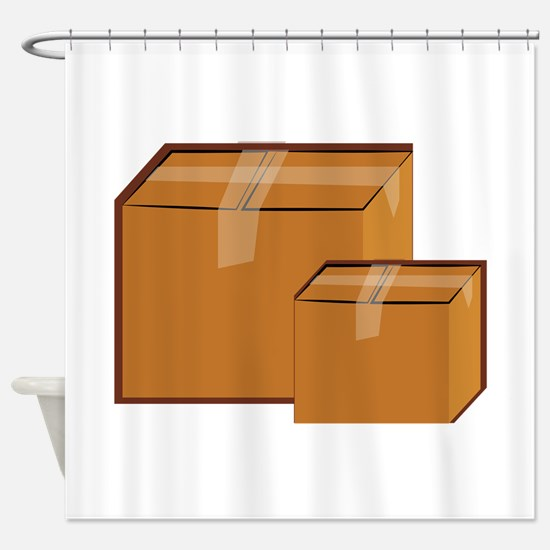 Moving Boxes Shower Curtain