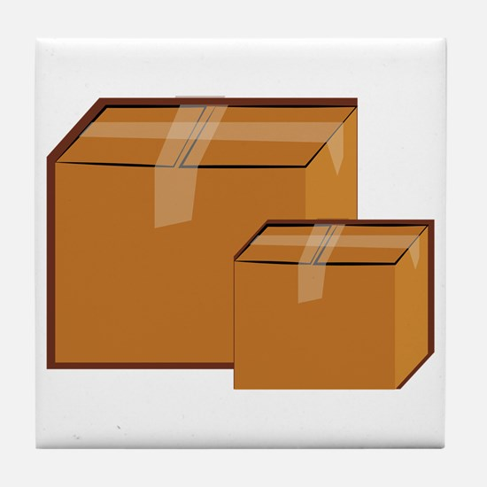 Moving Boxes Tile Coaster