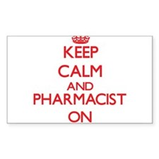 Keep Calm and Pharmacist ON Decal