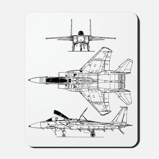 F-15 Eagle Schematic Mousepad