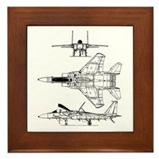 F-15 Eagle Schematic Framed Tile