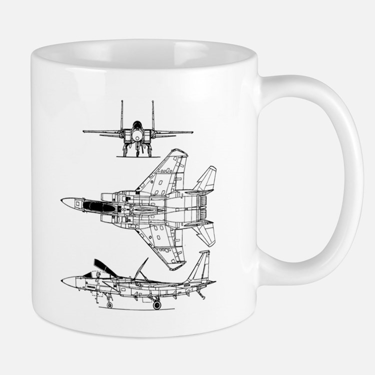 F-15 Eagle Schematic Mug