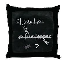 Grammar Diagram (Blk sq) Throw Pillow