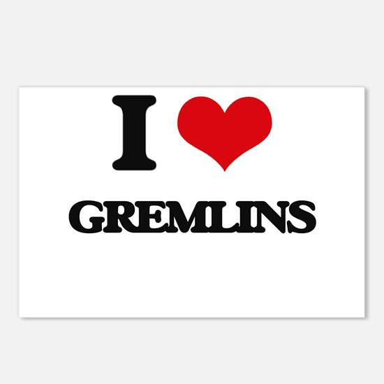 I Love Gremlins Postcards (Package of 8)