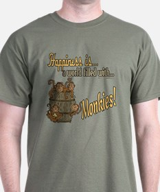 Happiness is a monkey T-Shirt
