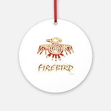 Fire Bird Ornament (Round)