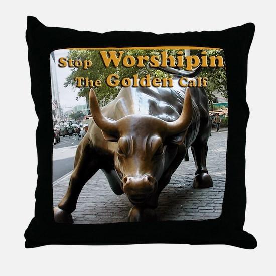 The Golden Calf Throw Pillow