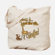 Happiness is a giraffe Tote Bag