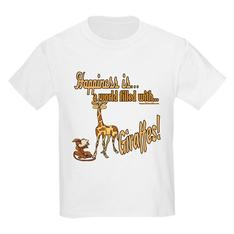 Happiness is a giraffe Kids Light T-Shirt